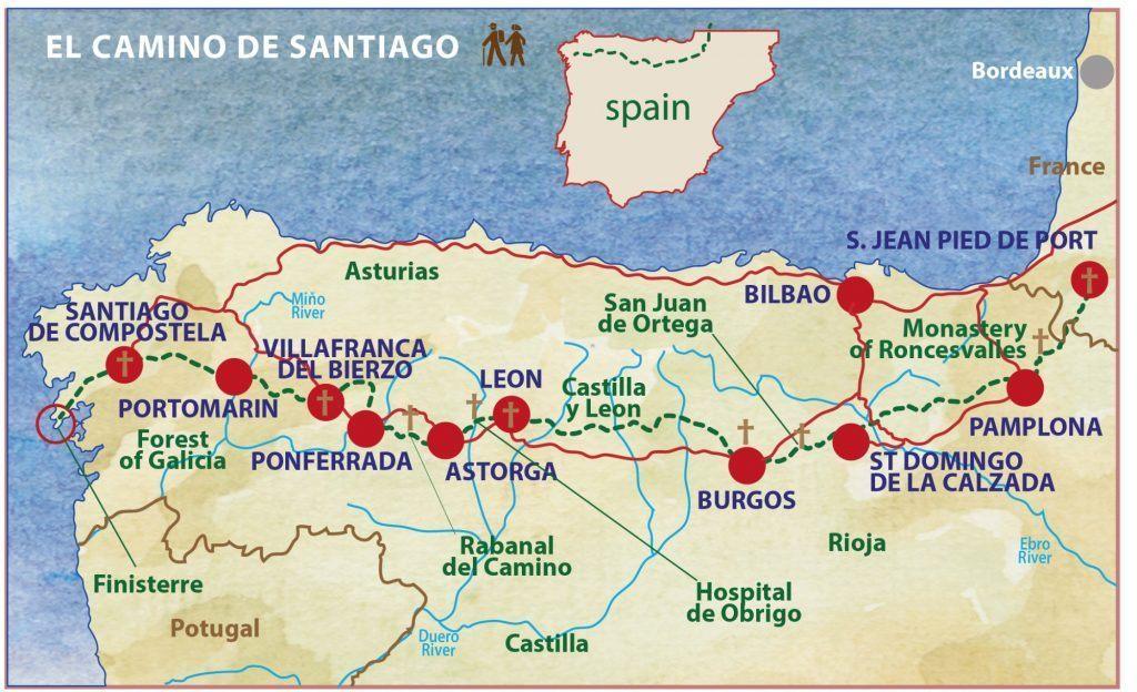 Camino map